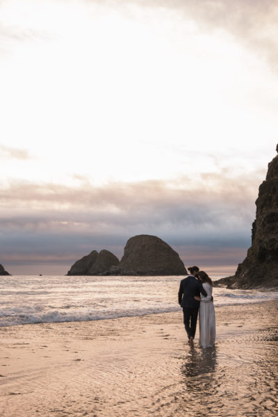 Oregon Coast wedding photographer Cannon Beach Sunset