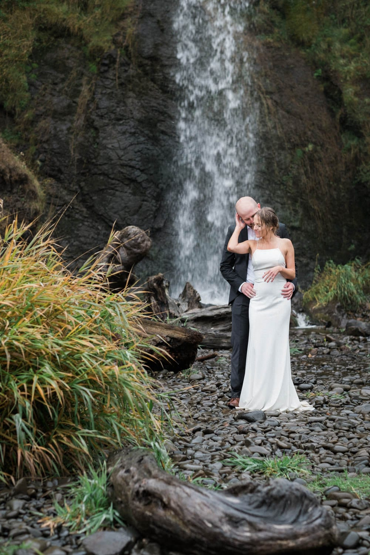 small beach Oceanside Oregon elopement