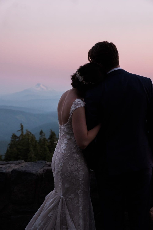 Portland Wedding Photographer, Timberline, Wedding, sunset